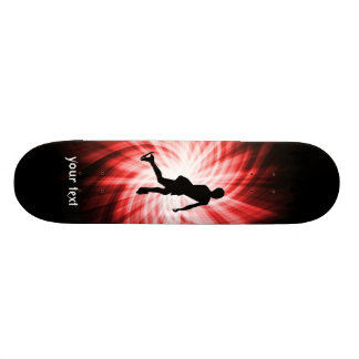 Red Figure Skating Skateboard