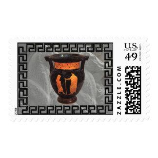 Red-figure vase postage stamps