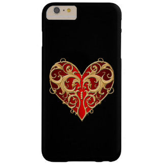 Red Filigree Heart iPhone 6 Case