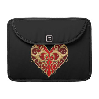 Red Filigree Heart Macbook Sleeve Sleeve For MacBook Pro
