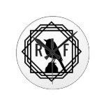 Red Finch Designs logo Round Clock