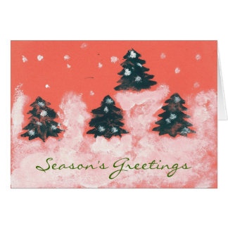 Red Fir Trees Card