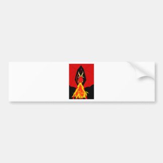 Red Fire Breathing Dragon Bumper Sticker