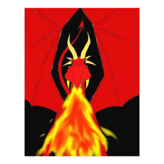 Red Fire Breathing Dragon Flyer