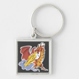 red fire-breathing dragon key chain