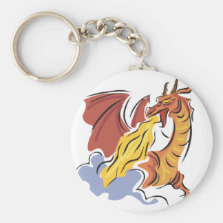 red fire-breathing dragon key chains