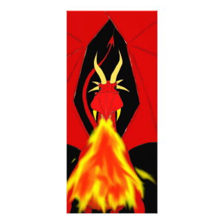 Red Fire Breathing Dragon Rack Card