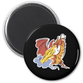 red fire-breathing dragon refrigerator magnets
