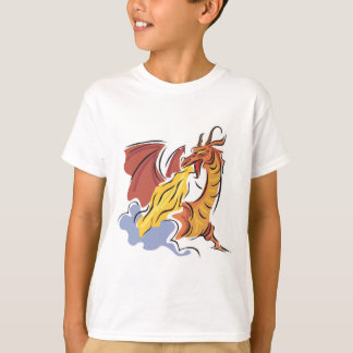 red fire-breathing dragon T-Shirt