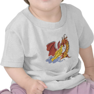red fire-breathing dragon t shirt