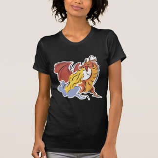 red fire-breathing dragon tee shirts