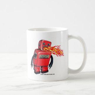 Red Fire-breathing Robot Coffee Mug