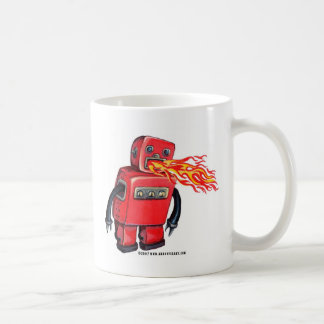 Red Fire-breathing Robot Coffee Mugs