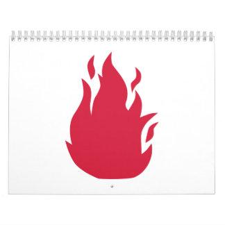Red fire calendar