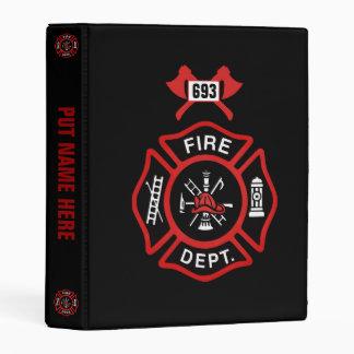 Red Fire Department Badge Mini Binder