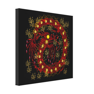 Red Fire Dragon Canvas Print