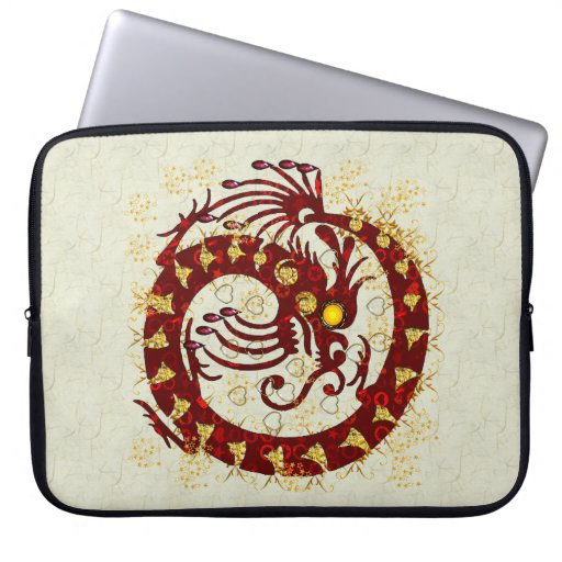 Red Fire Dragon Laptop Sleeve