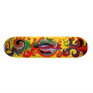 Red Fire Dragon Skateboard