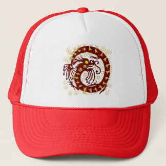 Red Fire Dragon Trucker Hat