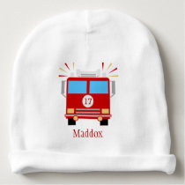 Red Fire Engine   Personalized Baby Beanie