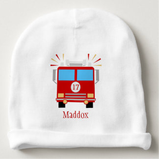 Red Fire Engine | Personalized Baby Beanie