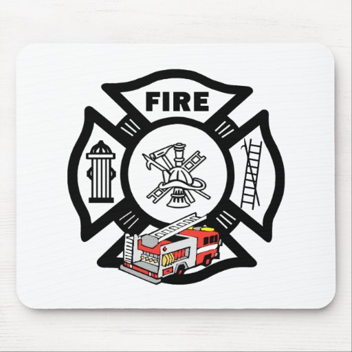 Red Fire Engine Rescue Mouse Pad