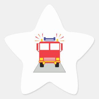 Red Fire Engine Sticker