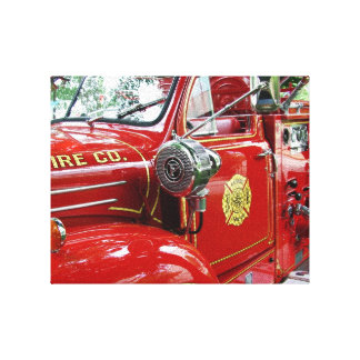 Red fire engine wall art.... canvas print