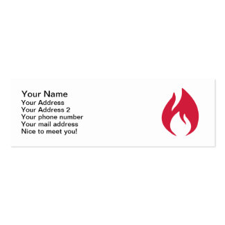 Red fire flame business card template