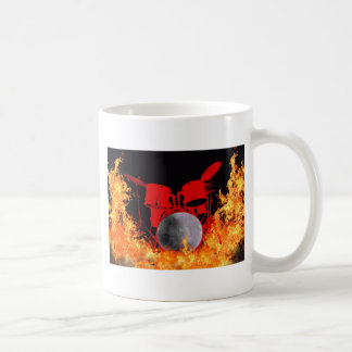 Red Fire Flame Drums by Tina A Stoffel. Coffee Mug