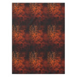 Red Fire Fractal Abstract Art Tablecloth