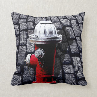 Red Fire Hydrant New York City Pillow
