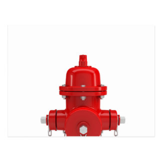Red Fire Hydrant Postcard