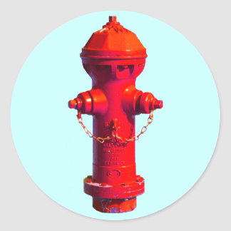 Red Fire Hydrant Series Classic Round Sticker