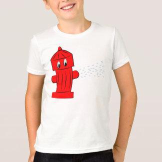 Red Fire Hydrant Summer Splash T-Shirt