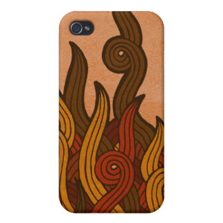 Red Fire iPhone 4 Covers