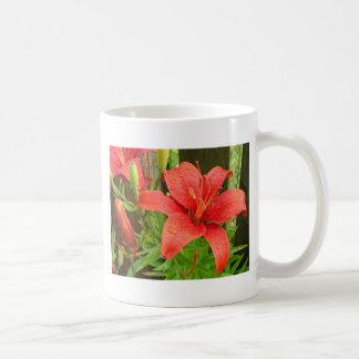 Red Fire Lily Coffee Mug