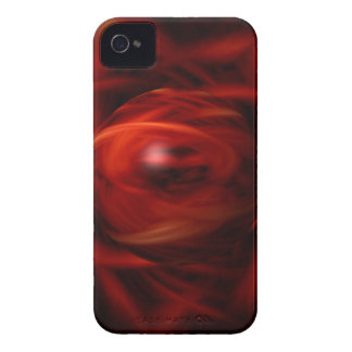 Red Fire Sphere iPhone 4 Case-Mate Case