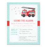 Red Fire Truck Baby Shower Party Invitation Invitations