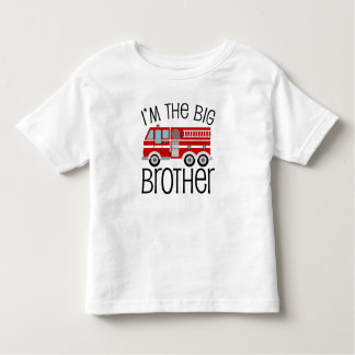 Red Fire Truck Big Brother T Shirt