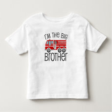 Red Fire Truck Big Brother Toddler T-shirt