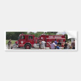 Red Fire Truck Bumper Sticker