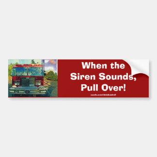 Red Fire Truck Fireman's Art Gift Bumper Sticker