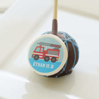 Red Fire Truck Kids Birthday Party Treats Cake Pops
