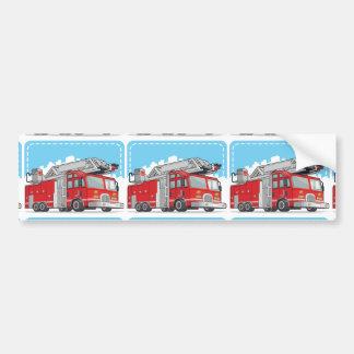 Red Fire Truck or Fire Engine Bumper Sticker