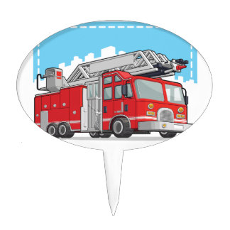 Red Fire Truck or Fire Engine Cake Topper