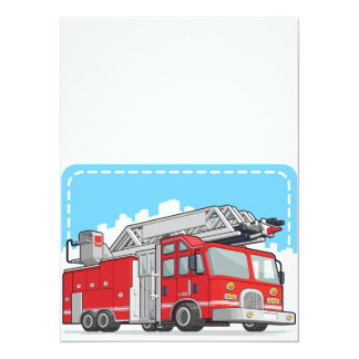 Red Fire Truck or Fire Engine Card