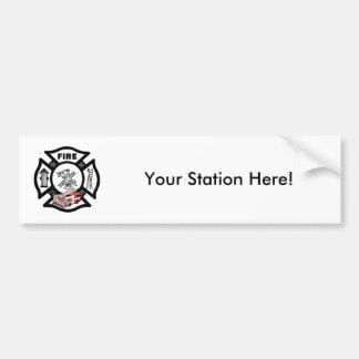 Red Fire Truck Rescue Bumper Sticker