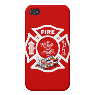 Red Fire Truck Rescue iPhone 4 Cover