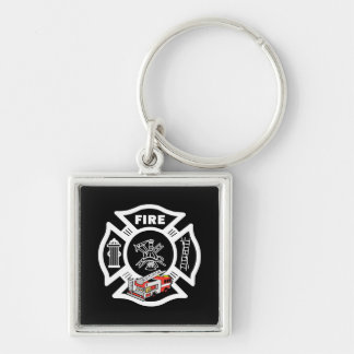 Red Fire Truck Rescue Keychain
